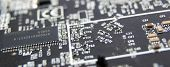 Modern Printed Circuit Board, Electronic Circuit Board, Textolite. Background Banner. Mother Board,  poster