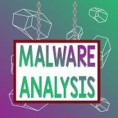 Word Writing Text Malware Analysis. Business Concept For Performs Deep Analysis Of Evasive And Unkno poster