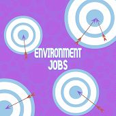 Conceptual Hand Writing Showing Environment Jobs. Business Photo Showcasing Jobs That Contribute To  poster