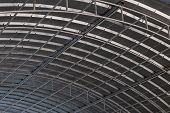 Roof Top Of Industrial, Roof Structures Of Industrial Building. Structural Of Roof Industrial. Backg poster