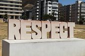Respect, Letterhead Seat Belt In Cape Town, Cape Town, South Africa, South Africa. poster