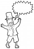 pic of hobo  - cartoon shouting crazy hobo - JPG