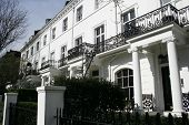 picture of edwardian  - Row of white Edwardian houses in London - JPG