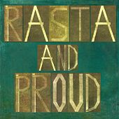 image of rasta  - Earthy background image and design element depicting the words  - JPG