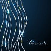 Granos brillantes del diamante - fondo eps10