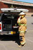 pic of klamath  - Command operations at a Klamath Falls Shoot for Haz Mat Outreach Video - JPG