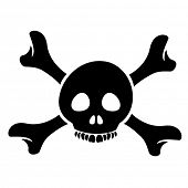 picture of skull crossbones flag  - Illustration of Skull and the Crossbones Cartoon isolated on a white background - JPG