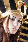 stock photo of cleopatra  - portrait of cleopatra beautiful queen of egypt - JPG