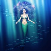 picture of mermaid  - Fantasy - JPG