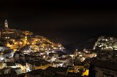 picture of sassy  - A view of Matera Sassi by night - JPG