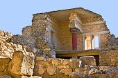 foto of minotaur  - The ancient complex of Knossos Palace is the famous archaeological site on Crete Greece - JPG