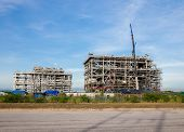 foto of lng  - Liquefied natural gas Refinery Factory with LNG storage tank using for Oil and gas industry - JPG