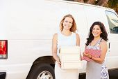 pic of catering  - Two Women Running Catering Business With Van - JPG