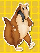 stock photo of ant-eater  - Illustration of an ant eater with background - JPG
