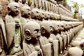 stock photo of abort  - The Jizo Statues Represent The Souls Of Miscarried Stillborn Or Aborted Children - JPG