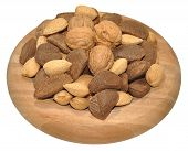 pic of brazil nut  - Mixed nuts including Brazil nuts - JPG