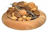 stock photo of brazil nut  - Mixed nuts including Brazil nuts - JPG