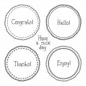 stock photo of congrats  - Vector set of hand drawn style badges and elements - JPG