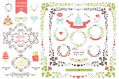pic of bridal shower  - Wedding design template set  in Retro style - JPG