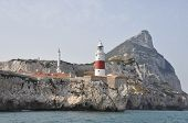 pic of gibraltar  - A view of Europa point Gibraltar from the sea - JPG