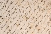 image of handwriting  - vintage handwriting with a text in undefined language - JPG