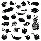 picture of avocado  - Icons of fruits and vegetables - JPG