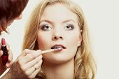picture of makeover  - Cosmetic beauty procedures and makeover concept - JPG