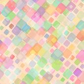 pic of gamma  - Abstract mosaic background of colored squares with rounded corners for design - JPG