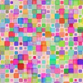 foto of gamma  - Abstract mosaic background of colored squares with rounded corners for design - JPG