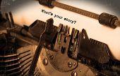 stock photo of typewriter  - Close - JPG