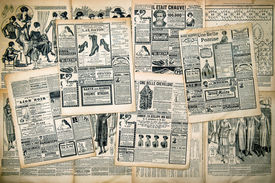 picture of edwardian  - Newspaper pages with antique advertising - JPG