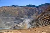 stock photo of porphyry  - Wide Angle View of Bingham Kennecott Copper Mine - JPG