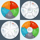 picture of step-up  - Set of modern minimal infographics circles - JPG