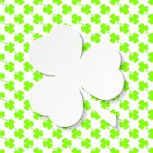 picture of shamrock  - Happy St - JPG