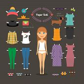 picture of up-skirt  - Dress up paper doll with big head - JPG