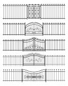 picture of gate  - Set of gates and iron fence horizontal seamless - JPG