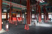 stock photo of seoul south korea  - Gyeongbokgung Palace and one of its temple - JPG