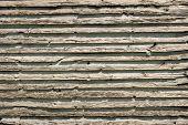 picture of log cabin  - Up close shot of old log cabin wood siding - JPG