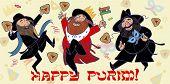 picture of purim  - happy jewish man dance and enjoy Purim - JPG