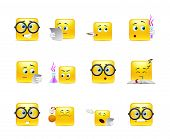 Постер, плакат: Set Of Emoticons For Students