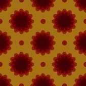 stock photo of symmetrical  - seamless symmetrical staggered red floral ornament vector illustration - JPG