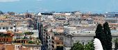 foto of emanuele  - Rome aerial view from Vittorio Emanuele monument   Rome Italy - JPG