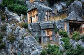 picture of burial  - Ancient burial place of Myra in Turkey - JPG