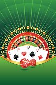 foto of four-wheel  - Abstract gambling background with roulette wheel - JPG