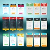 foto of comparison  - Set of vector pricing table in flat design style for websites and applications - JPG