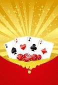 picture of crap  - Abstract gambling background with cards - JPG