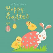 image of easter eggs bunny  - Easter bunny - JPG