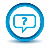 foto of blue things  - Blue question icon on a white background - JPG
