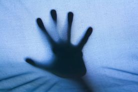 pic of horrific  - The mysterious arm on the other side of tent - JPG