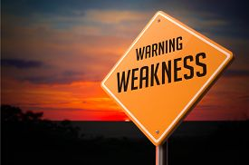 image of fragile sign  - Weakness on Warning Road Sign on Sunset Sky Background - JPG